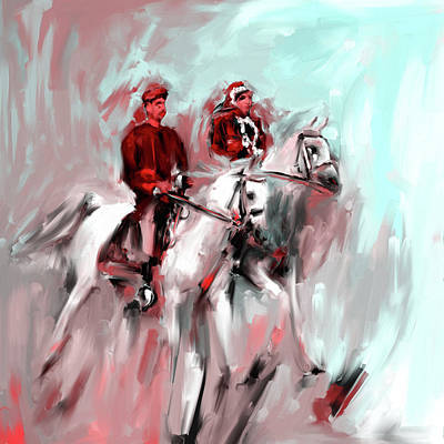 Painting - Painting 735 2 Horse Race 2 by Mawra Tahreem