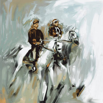 Painting - Painting 735 3 Horse Race 2 by Mawra Tahreem