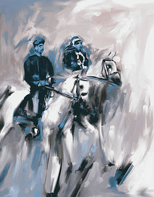 Painting - Painting 735 4 Horse Race 2 by Mawra Tahreem