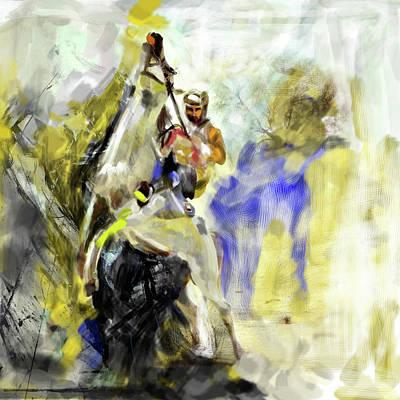 Painting - Painting 736 1 Horses IIi by Mawra Tahreem
