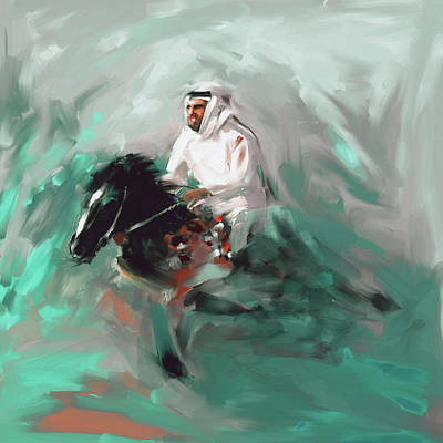 Painting - Painting 737 2 Horse Race 4 by Mawra Tahreem