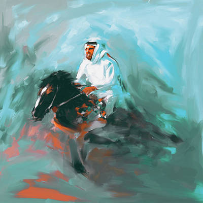 Painting - Painting 737 3 Horse Race 4 by Mawra Tahreem