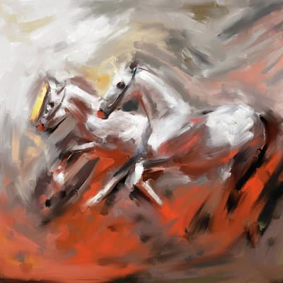 Painting - Painting 739 3 Horse Race 6 by Mawra Tahreem