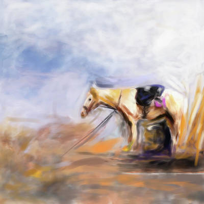 Painting - Painting 740 2 Horse Race 8 by Mawra Tahreem
