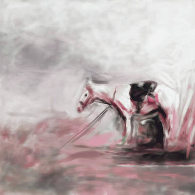 Painting - Painting 740 4 Horse Race 8 by Mawra Tahreem