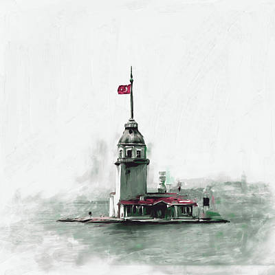 Painting 757 2 Maiden Tower Art Print