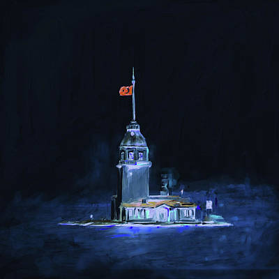 Painting 757  3 Maiden Tower Art Print