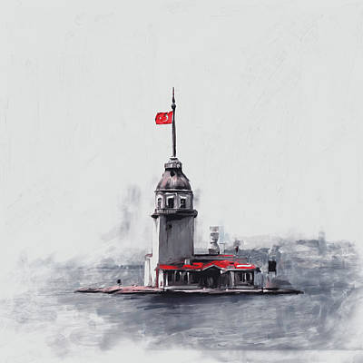 Painting 757 4 Maiden Tower Art Print