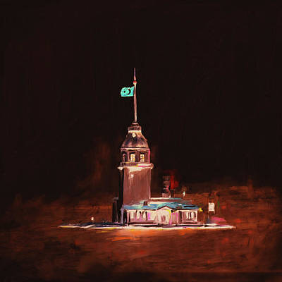Painting - Painting 757 5 Maiden Tower by Mawra Tahreem