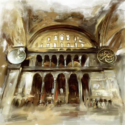 Painting - Painting 758 3 Hagia Sophia by Mawra Tahreem