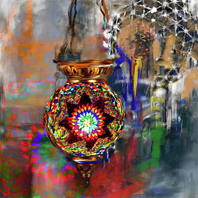 Painting - Painting 759 1 Turkish Glass Mosaics by Mawra Tahreem