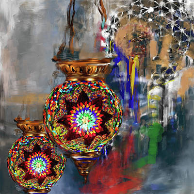 Painting - Painting 759 2 Turkish Glass Mosaics by Mawra Tahreem