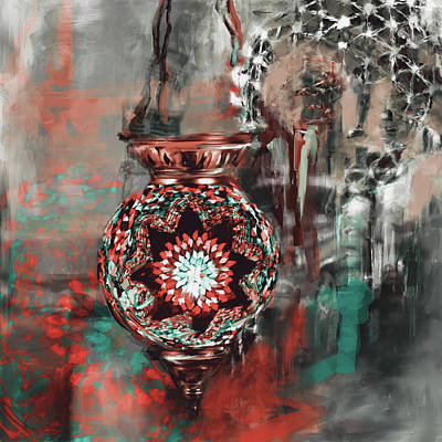 Painting - Painting 759 3 Turkish Glass Mosaics by Mawra Tahreem