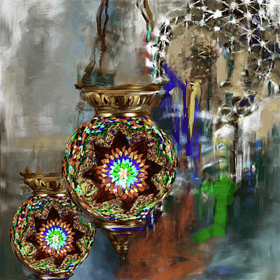 Painting - Painting 759 5 Turkish Glass Mosaic by Mawra Tahreem