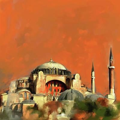 Painting - Painting 760 1 Hagia Sophia by Mawra Tahreem