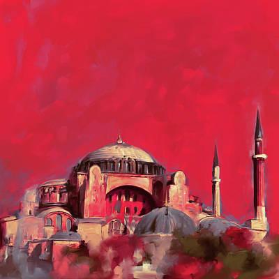Painting - Painting 760 3 Hagia Sophia by Mawra Tahreem