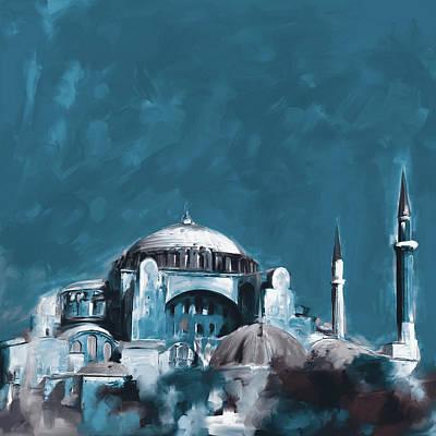 Painting - Painting 760 4 Hagia Sophia by Mawra Tahreem