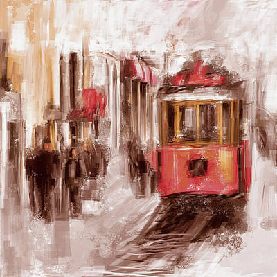 Painting - Painting 763 3 Istiklal Street by Mawra Tahreem