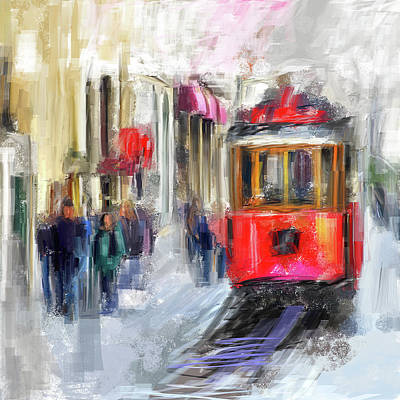 Painting - Painting 763 Istiklal Street by Mawra Tahreem