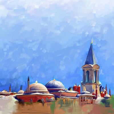 Painting - Painting 766 1 Hagia Sophia by Mawra Tahreem