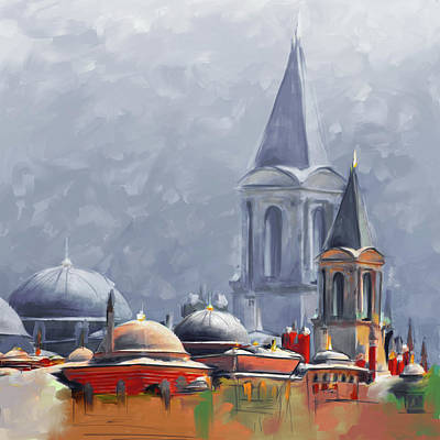Painting - Painting 766 3 Hagia Sophia by Mawra Tahreem