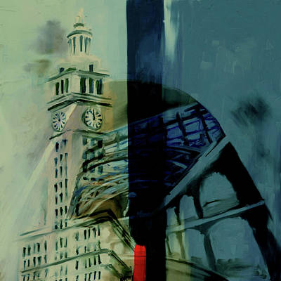 Painting - Painting 772 2 Wrigley Building by Mawra Tahreem