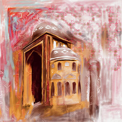 Painting - Painting 774 2jalil Khayat Mosque by Mawra Tahreem