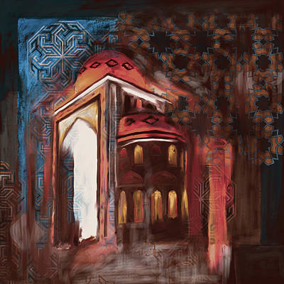 Painting - Painting 774 3 Jalil Khayat Mosque by Mawra Tahreem
