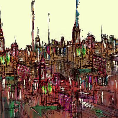 Painting - Painting 775 1 New York Skyline by Mawra Tahreem