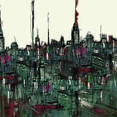 Painting - Painting 775 3 New York Skyline by Mawra Tahreem