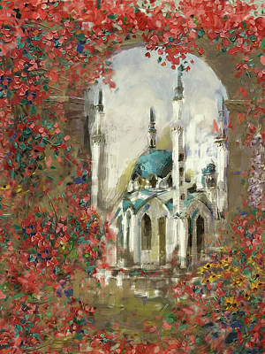 Painting - Painting 776 3 Qolsarif Mosque by Mawra Tahreem