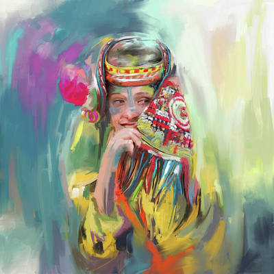 Painting - Painting 786 1 Kailash Girl by Mawra Tahreem