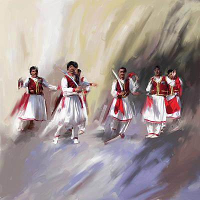 Painting - Painting 789 1 Khatak II by Mawra Tahreem