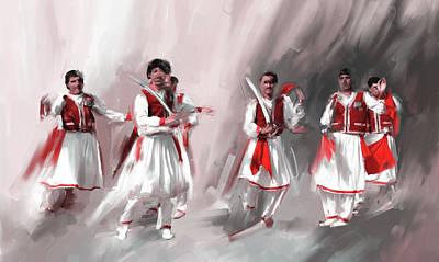 Painting - Painting 789 2 Khatak Dancer II by Mawra Tahreem