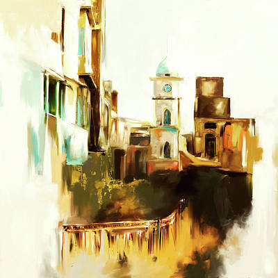 Painting - Painting 790 2 Cunningham Clock Tower by Mawra Tahreem