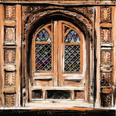 Painting - Painting 793 1 Wooden Architecture by Mawra Tahreem