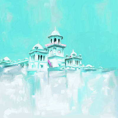 Painting - Painting 795 3 Islamic College Peshawar by Mawra Tahreem