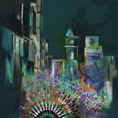 Painting - Painting 796 1 Cunningham Clock Tower by Mawra Tahreem