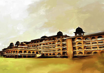 Painting - Painting 797 1 Peshawar University by Mawra Tahreem