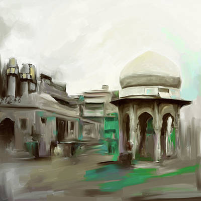 Painting - Painting 798 2 Chowk Yaadgar by Mawra Tahreem