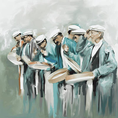 Painting - Painting 800 3 Hunzai Musicians by Mawra Tahreem