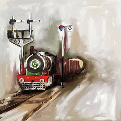 Painting - Painting 801 1 Steam Engine by Mawra Tahreem
