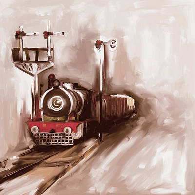 Painting - Painting 801 3 Steam Engine by Mawra Tahreem