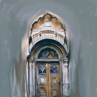 Painting - Painting 802 2 Sethi Street Door by Mawra Tahreem
