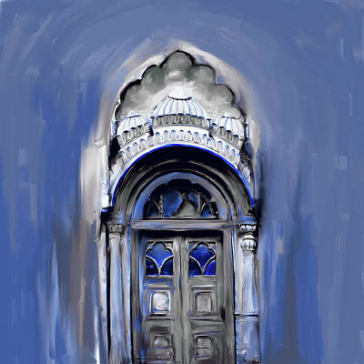 Painting - Painting  802 3 Sethi Street Door by Mawra Tahreem
