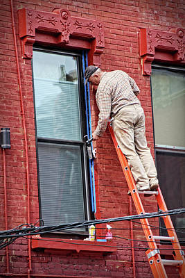 Photograph - Painting A Brownstone Building In New York by Doc Braham