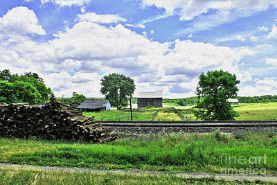 Photograph - Painting A Rural Landscape 2 by Nina Silver