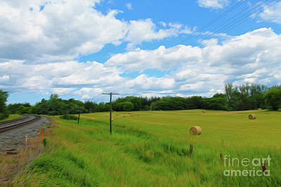Photograph - Painting A Rural Landscape by Nina Silver