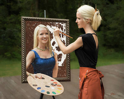 Painting - Painting A Self Portrait by Lori Grimmett