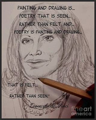 Mixed Media - Painting And Drawing Is Poetry 2 by Joan-Violet Stretch